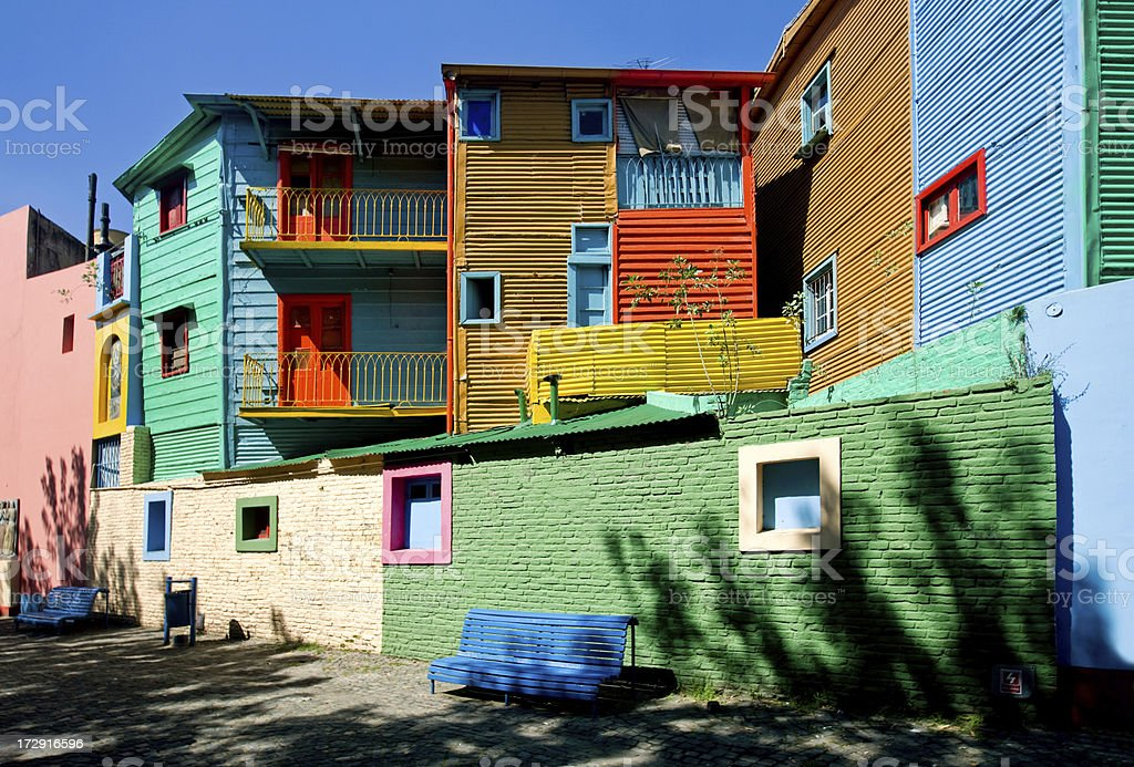 Colourful Houses stock photo