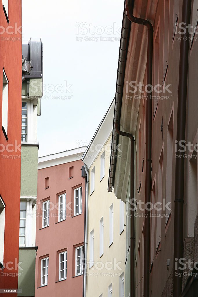Colourful houses  (XL) royalty-free stock photo