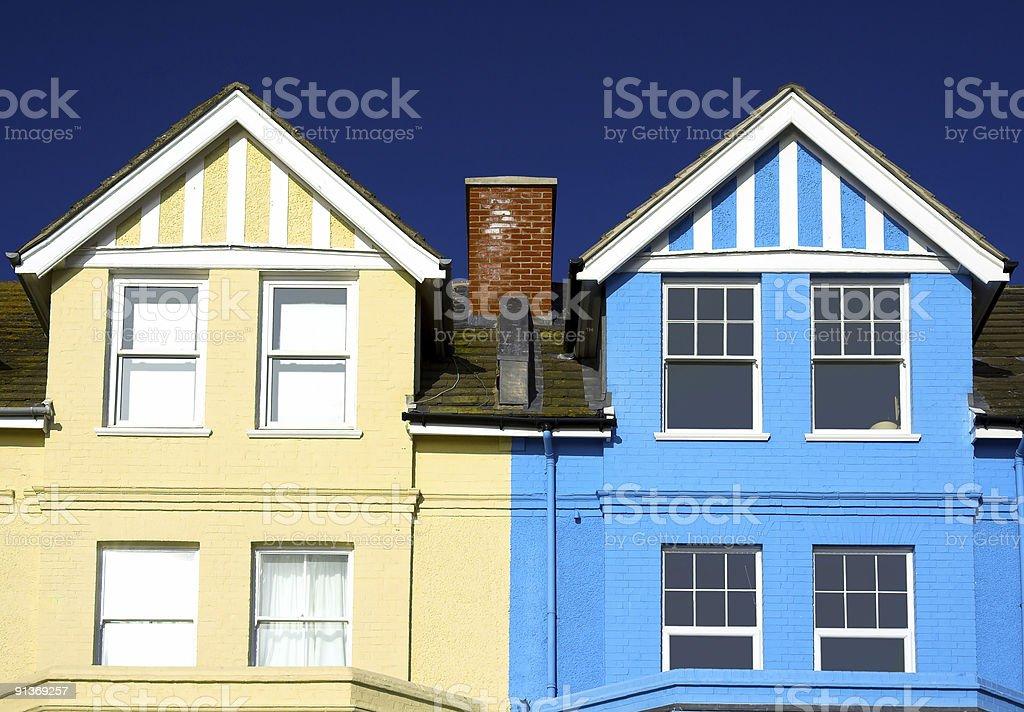 Kolorowe domy zbiór zdjęć royalty-free