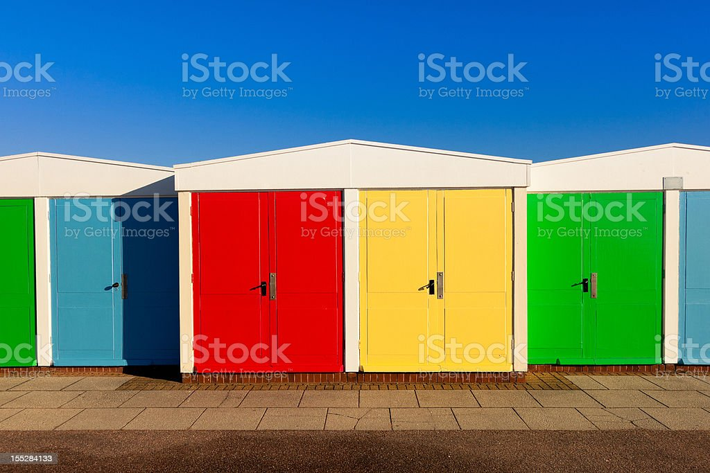 Colourful Huts royalty-free stock photo
