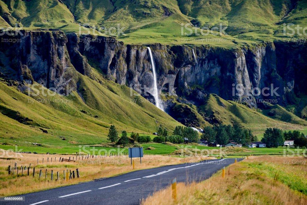 Colourful Icelandic landscape stock photo