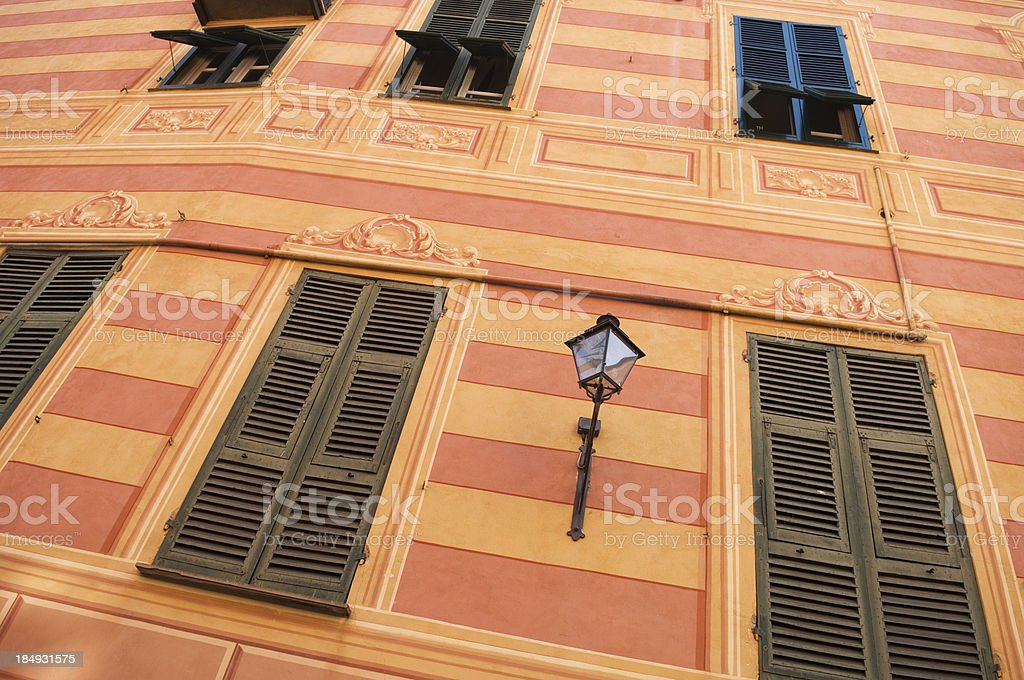 Colourful Italian townhouse stock photo