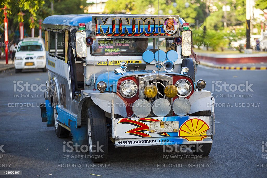 Colourful Jeepney vehicle in Metro Manila Philippines royalty-free stock photo
