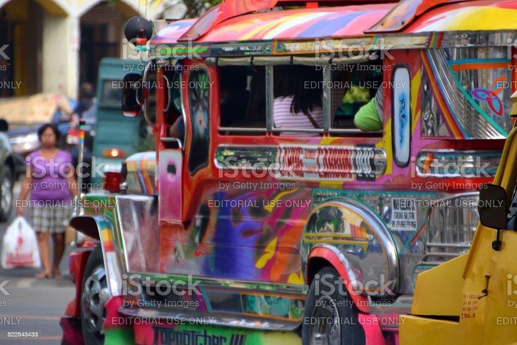 Colourful Jeepneys in Cebu City, Philippines stock photo