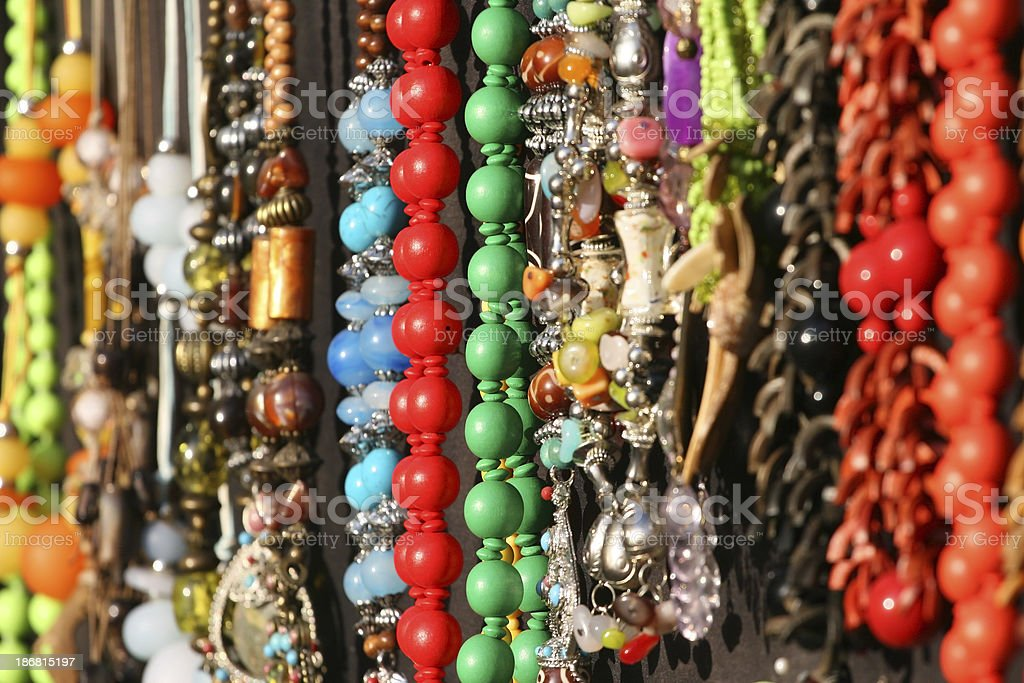 colourful jewellery royalty-free stock photo