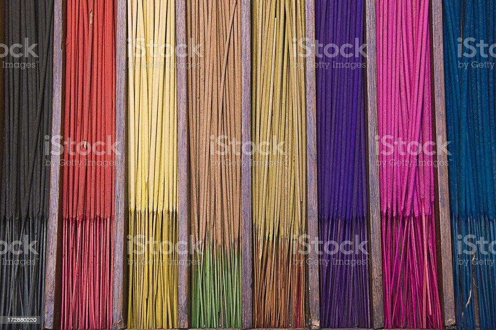 Colourful Joss Sticks royalty-free stock photo