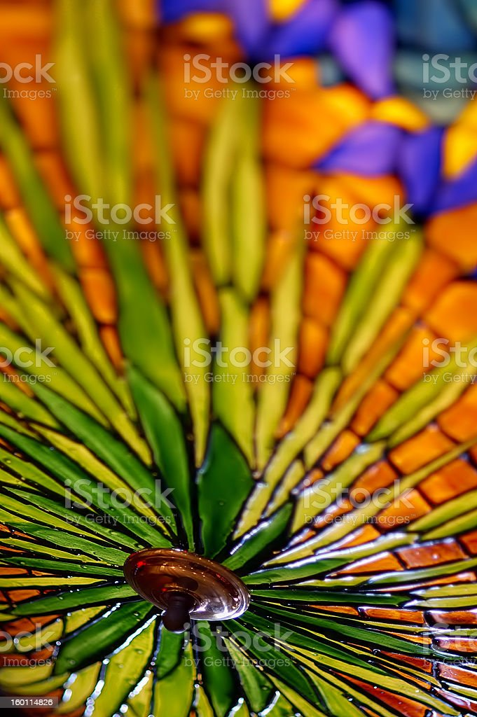 Colourful Lamp Shade stock photo
