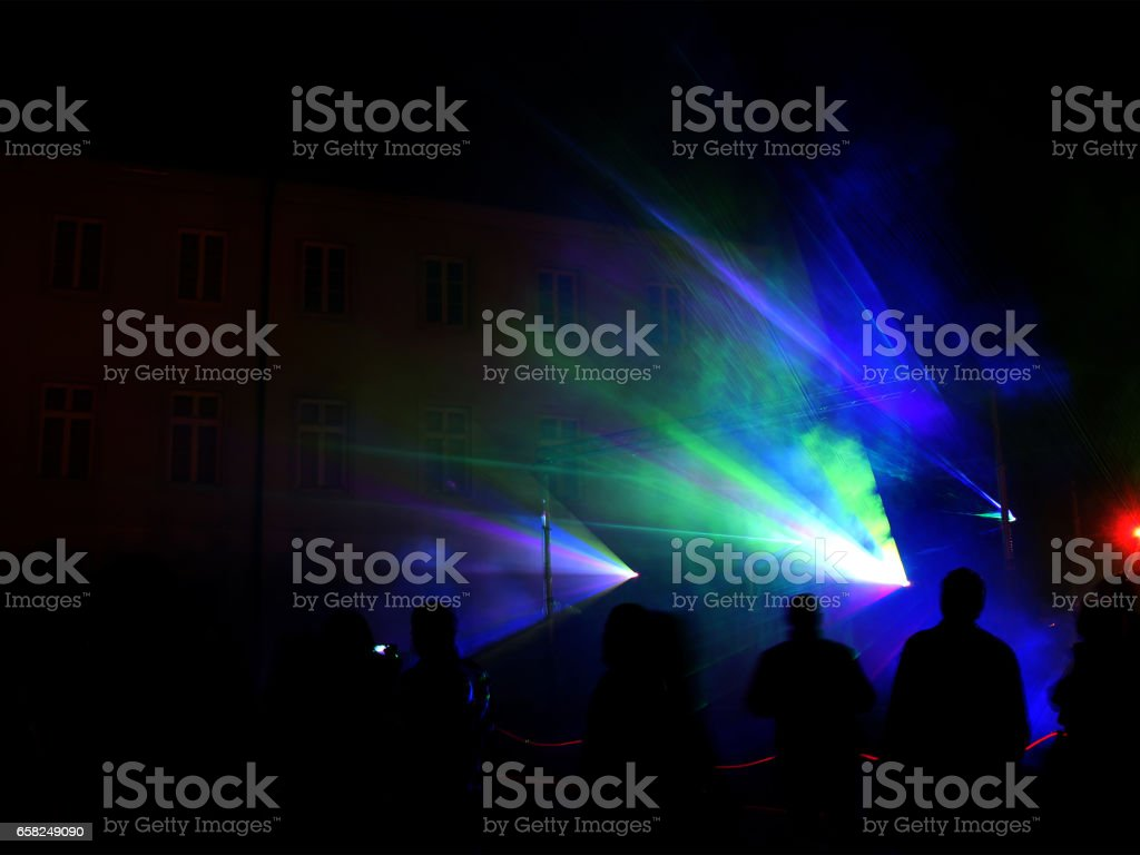 Colourful Laser show stock photo