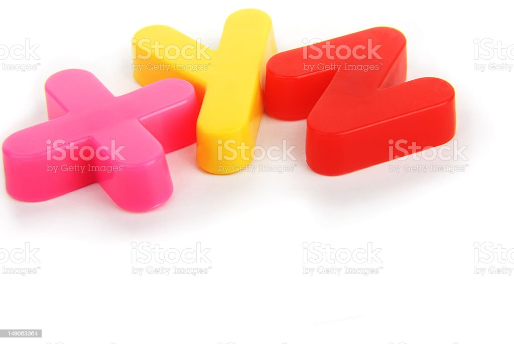 XYZ Colourful lettering royalty-free stock photo