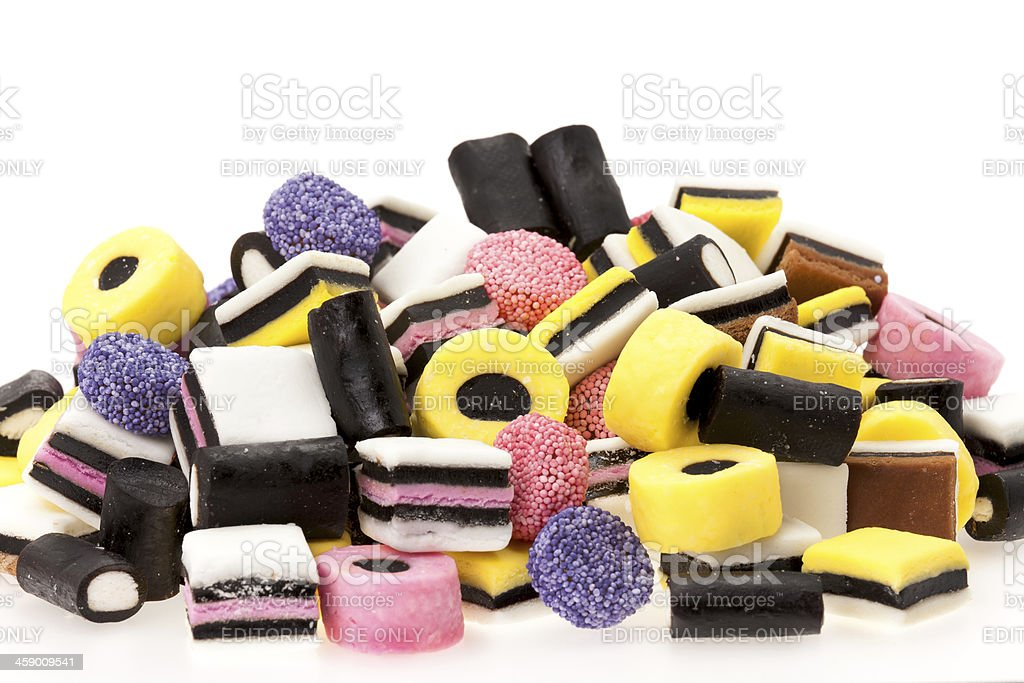 Colourful licorice candy stock photo
