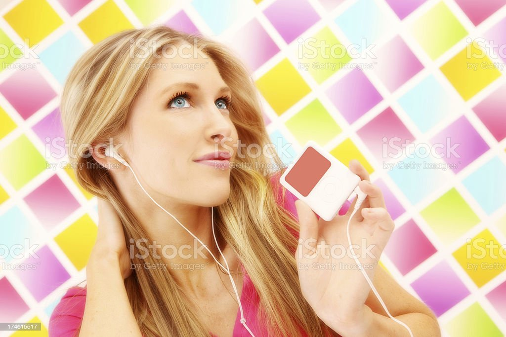 Colourful Listening royalty-free stock photo
