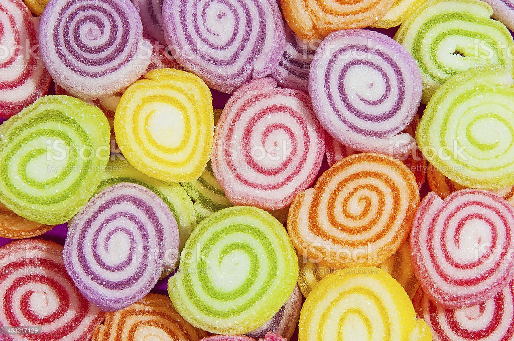 colourful lollies background stock photo