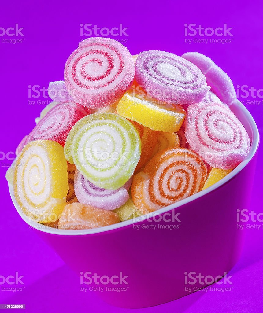 colourful lollies stock photo