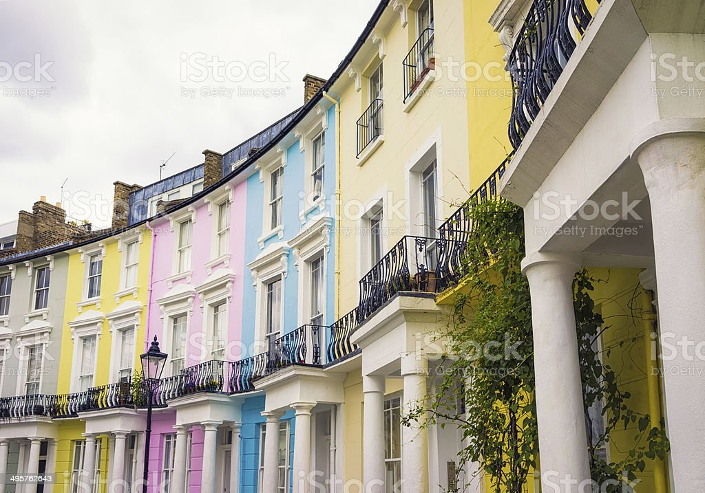 Colourful London Homes stock photo
