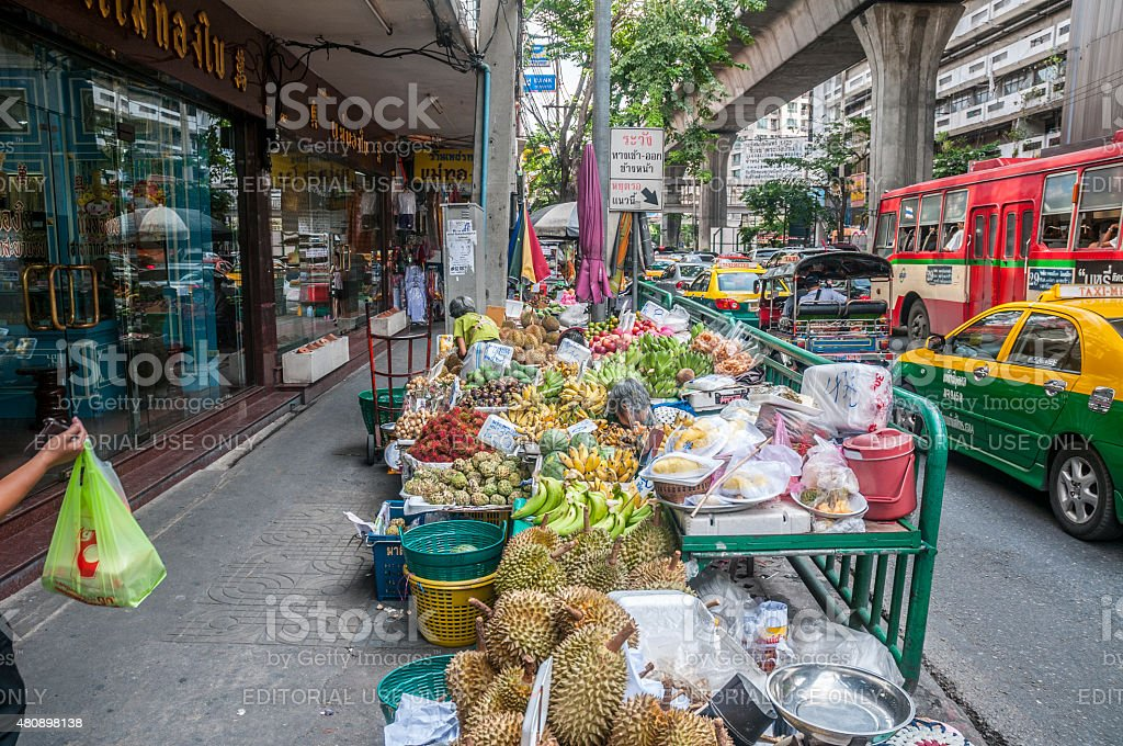 Colourful Market Stalls In Bangkok, Thailand stock photo