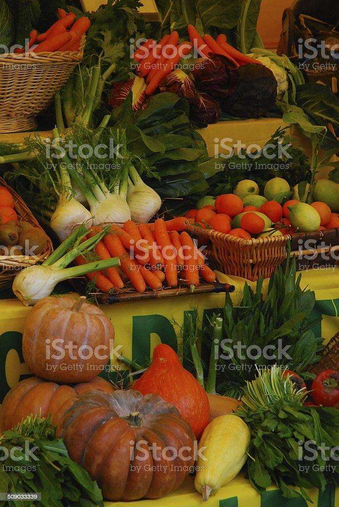 Colourful, Mediterranean vegetables on display royalty-free stock photo