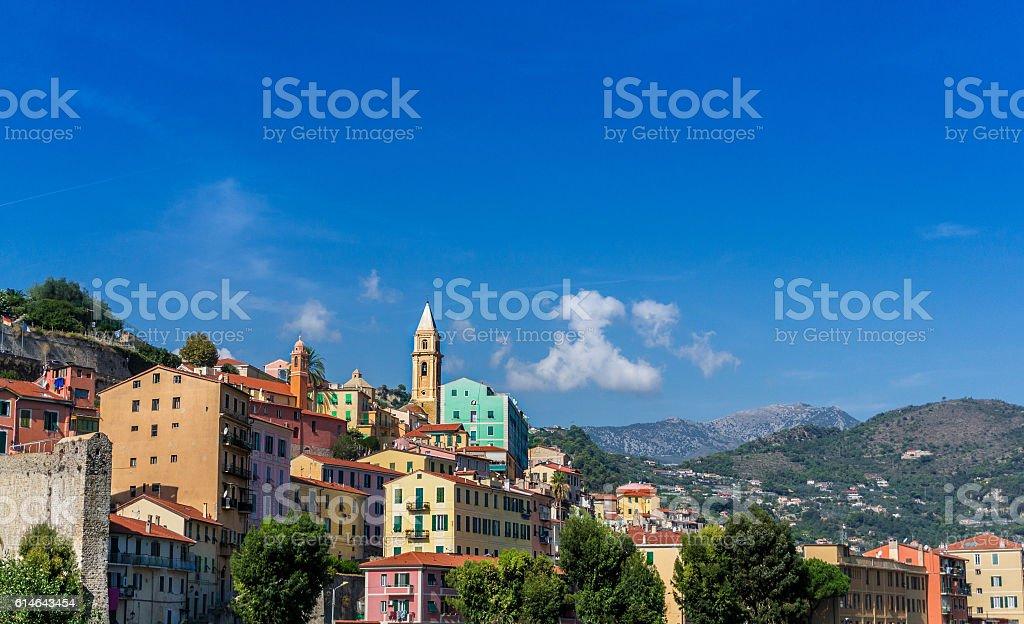 Colourful Mediterranean Village stock photo