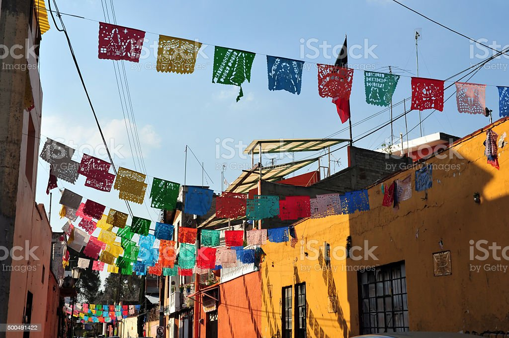 Colourful Mexican Houses stock photo