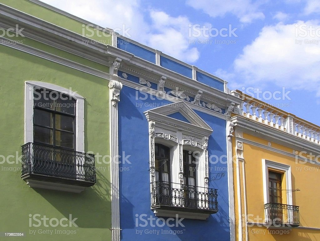 Colourful Mexican street royalty-free stock photo
