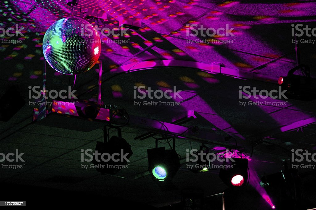 Colourful mirrorball in disco 2 royalty-free stock photo