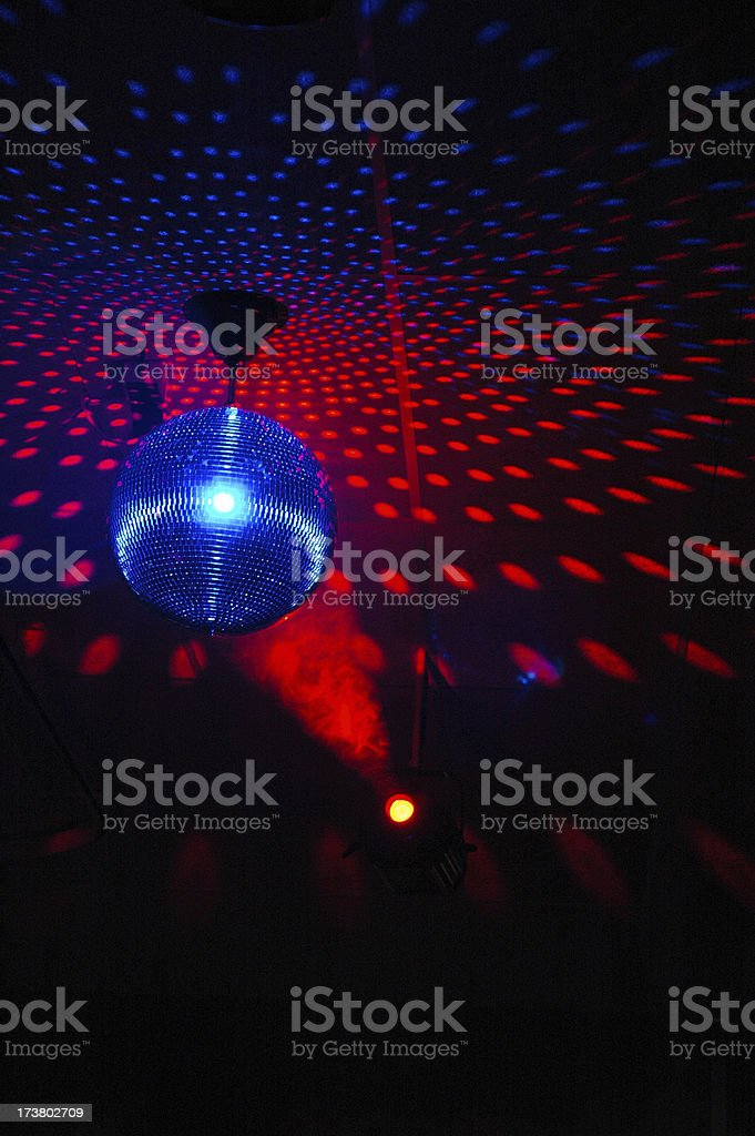 Colourful mirrorball in disco 5 royalty-free stock photo
