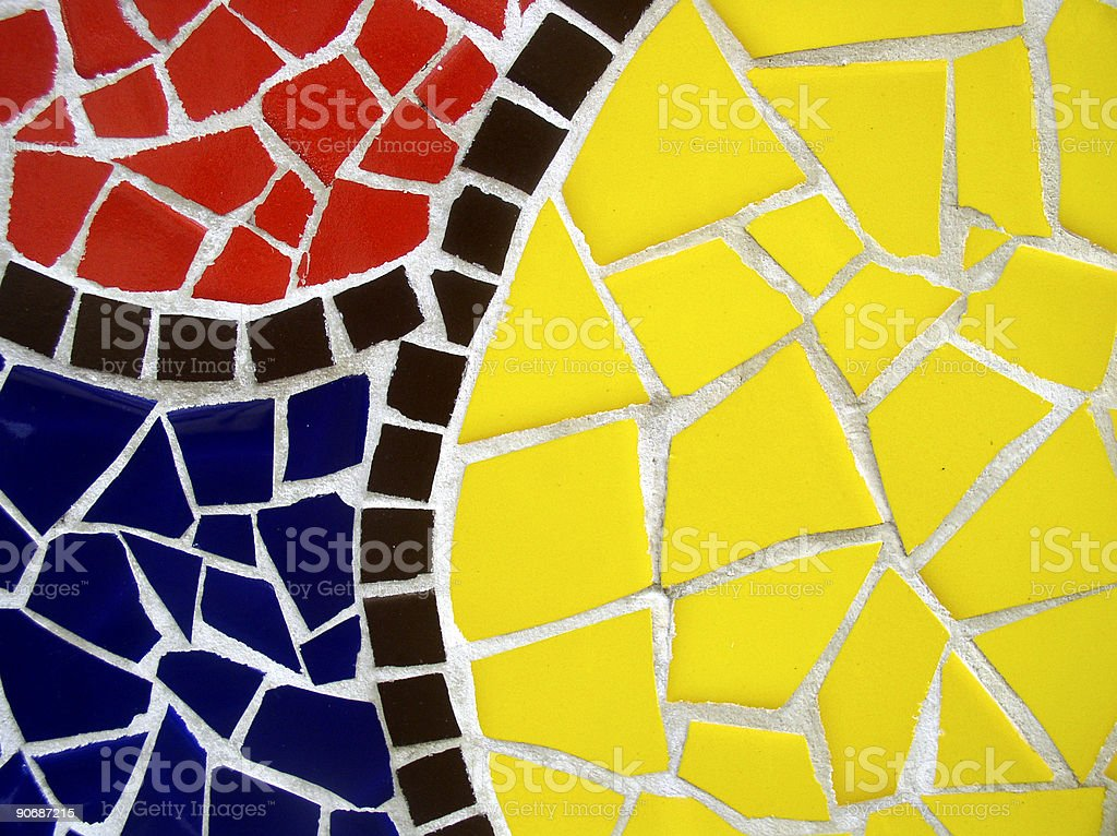 Colourful mosaic royalty-free stock photo