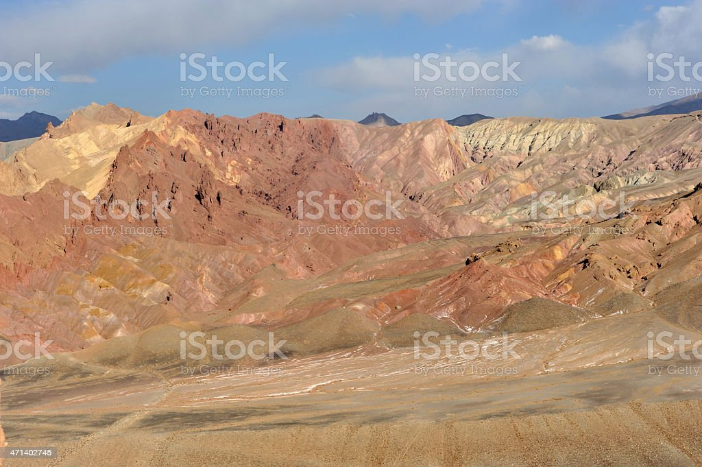 Colourful mountains, Afghanistan stock photo