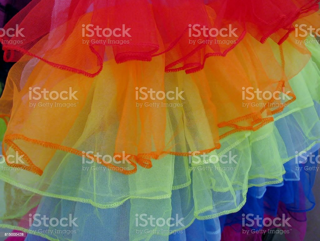 Colourful multilayered tutu stock photo