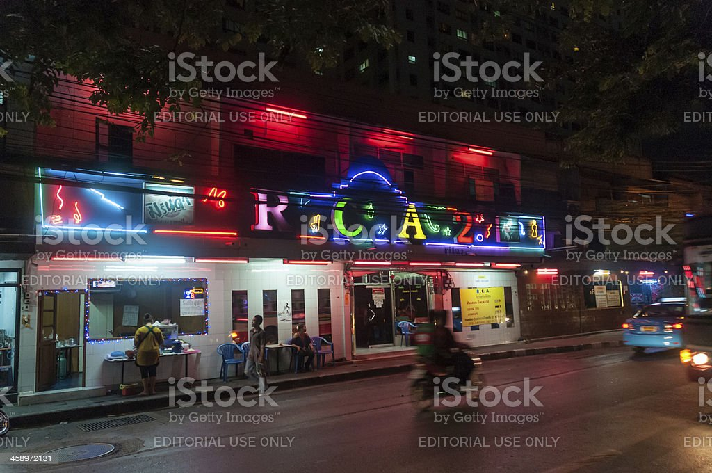 Colourful Nightclub In Bangkok, Thailand royalty-free stock photo
