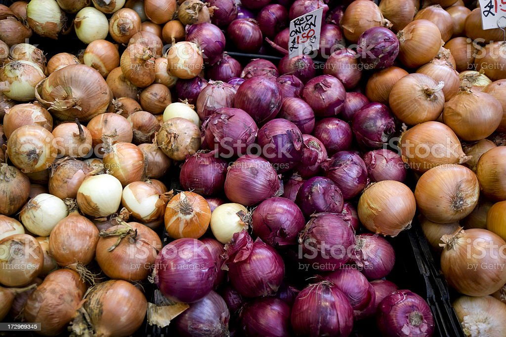 Colourful onions stock photo