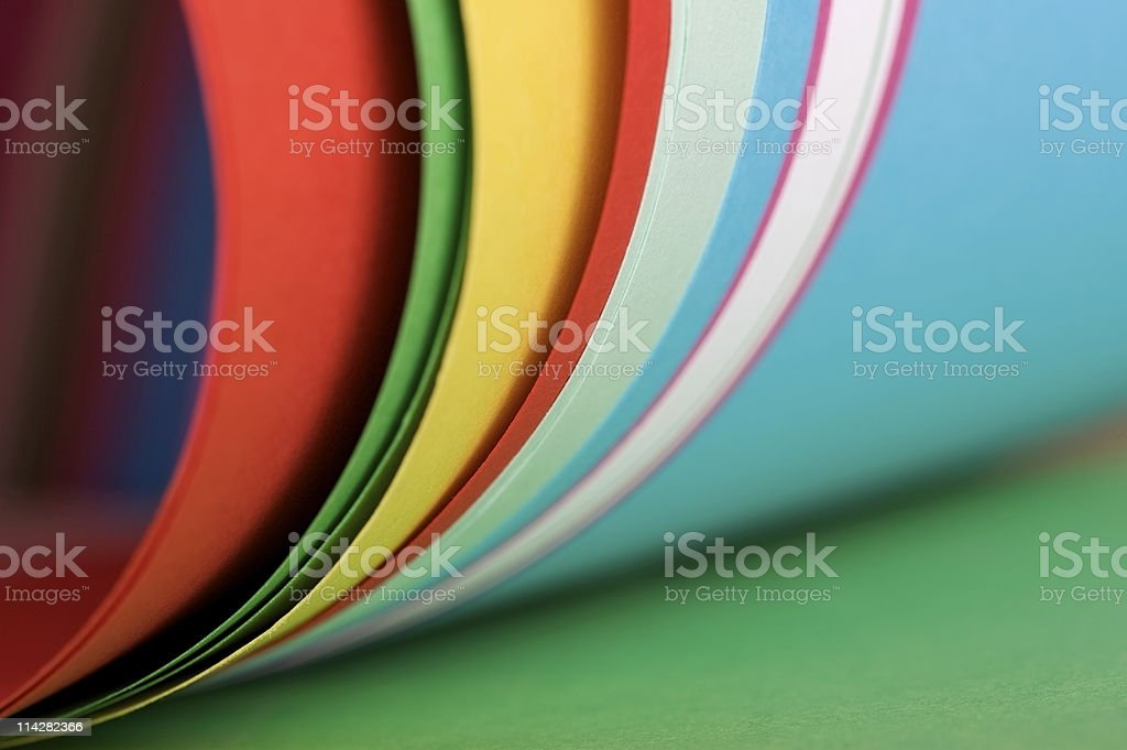 Colourful Paper... royalty-free stock photo