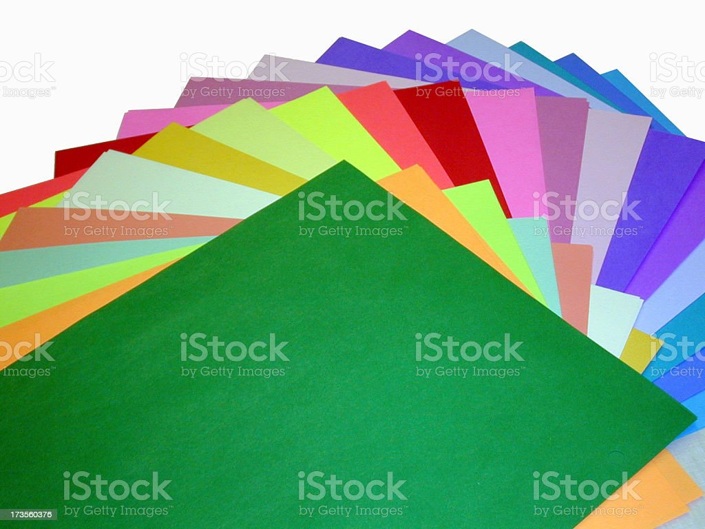 Colourful Paper royalty-free stock photo