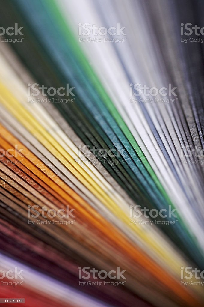 Colourful Paper Swatch... royalty-free stock photo