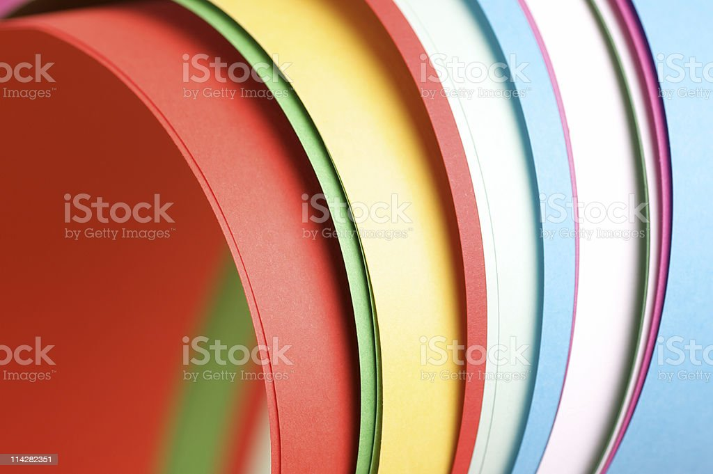 Colourful Papers... royalty-free stock photo