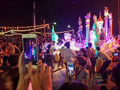 Colourful parade during the Loy Kratong in Chiang Mai.
