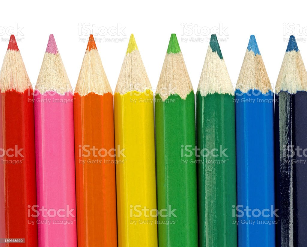 Colourful Pencils royalty-free stock photo
