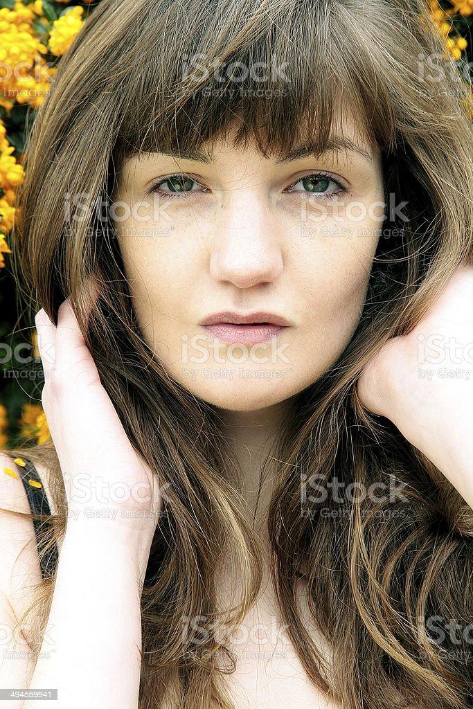 Colorato foto di una giovane donna foto stock royalty-free