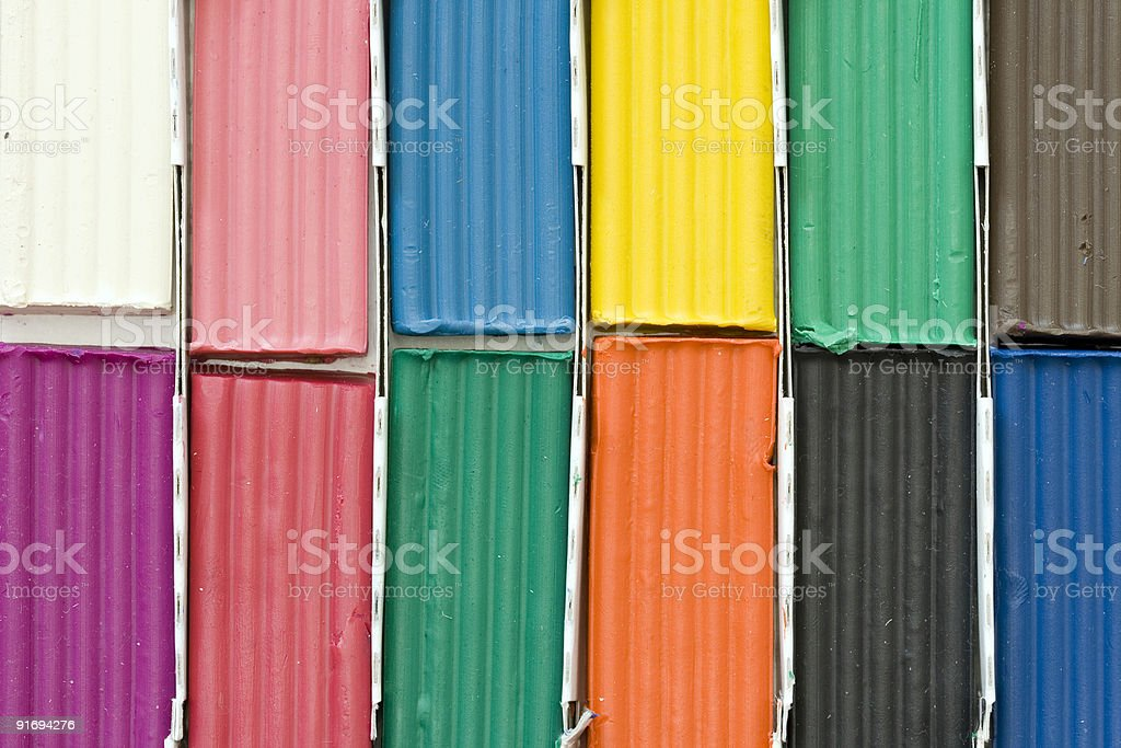 Colourful plasticine blocks royalty-free stock photo