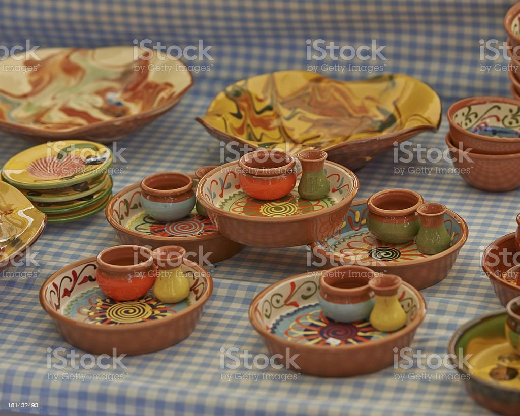Colourful Pottery stock photo