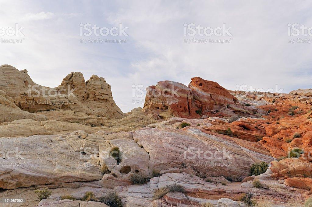 colourful sandstone stock photo