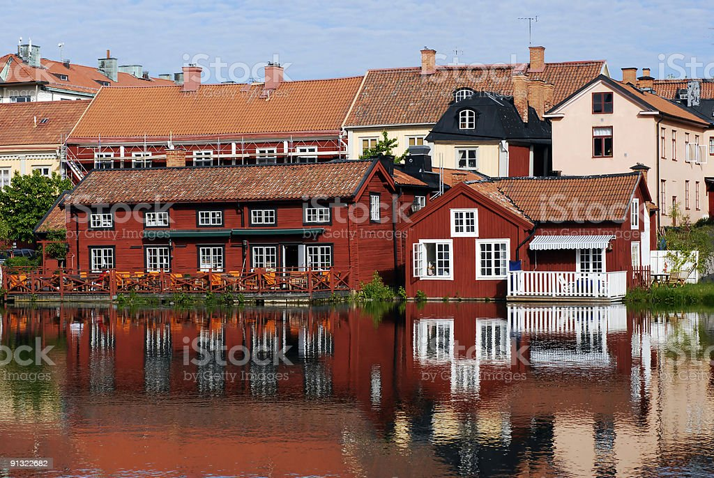 Colourful Scandinavian Houses royalty-free stock photo