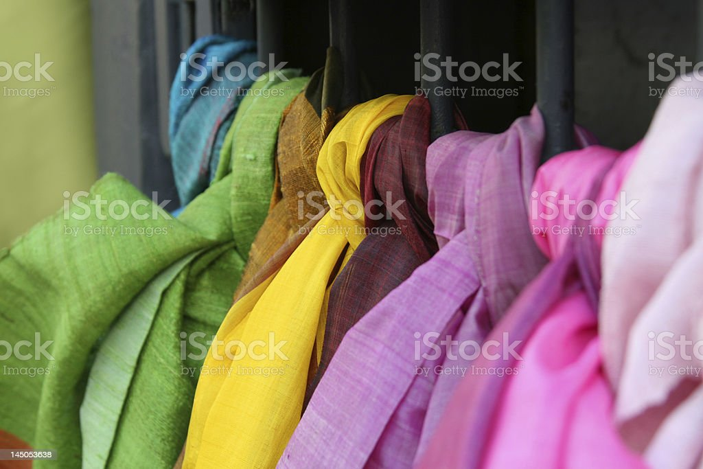 colourful scarves royalty-free stock photo