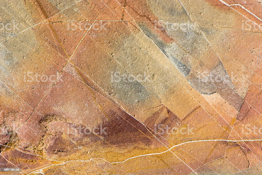 Colourful sedimentary rock background stock photo