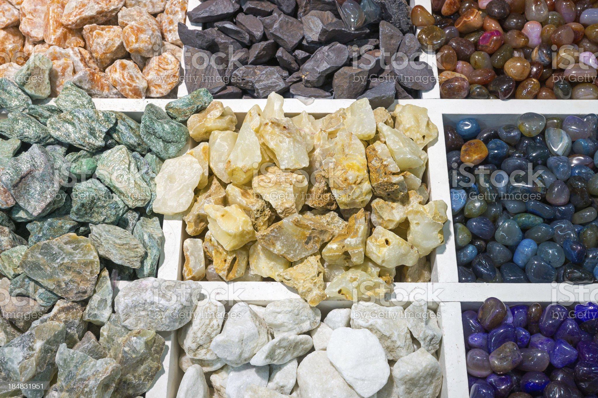 Colourful semi-precious stones royalty-free stock photo