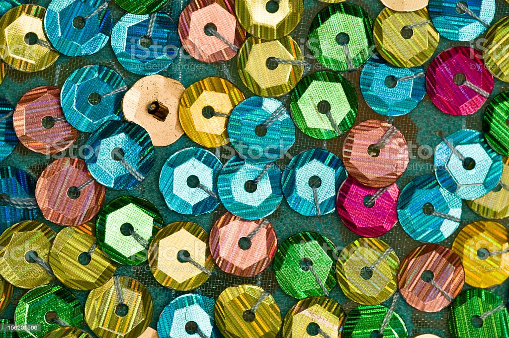 Colourful Sequins royalty-free stock photo