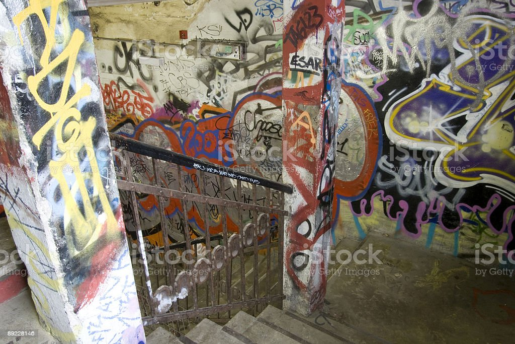 Colourful staircase in Berlin stock photo