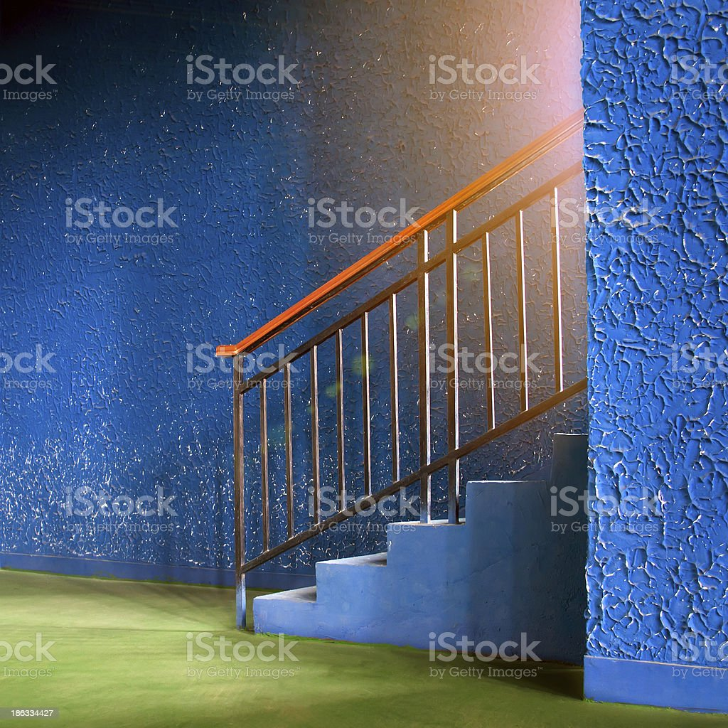 Colourful stairs stock photo