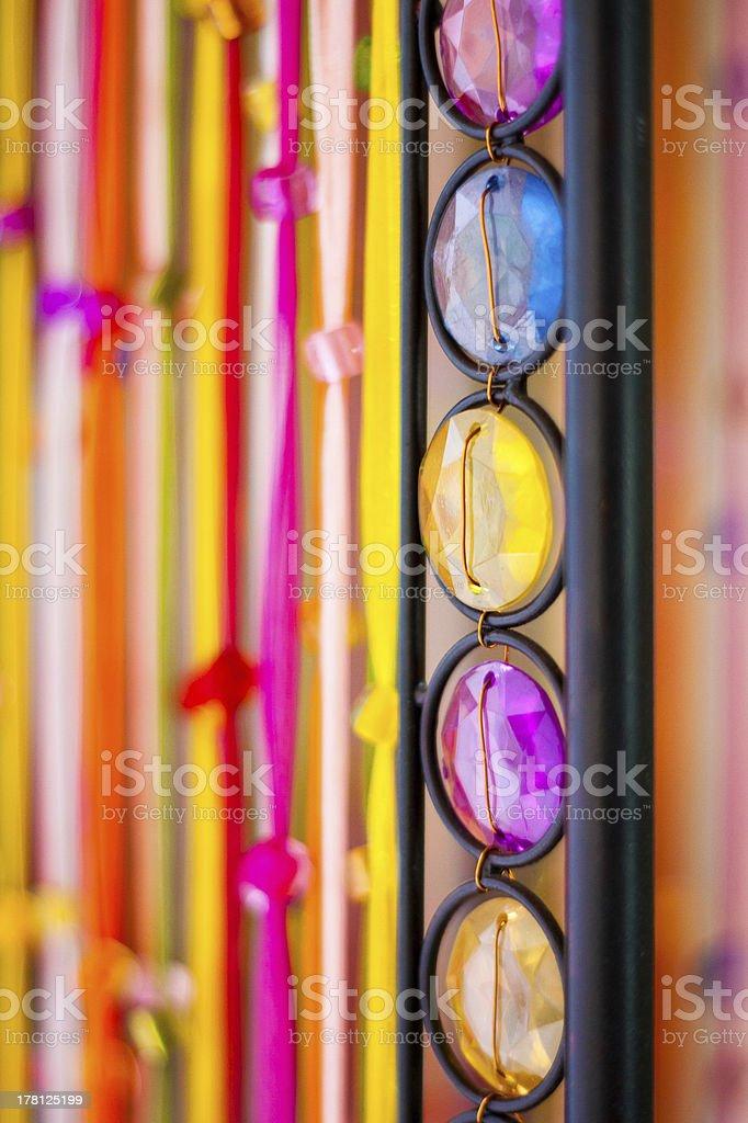 Colourful stone row stock photo