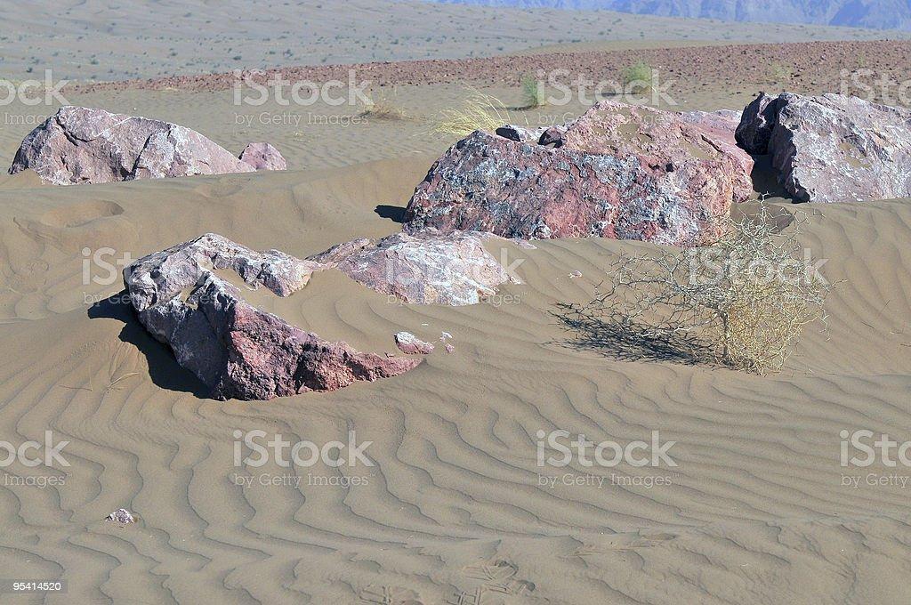Colourful Stones in Desert stock photo