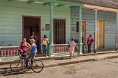 Colourful street in Baracoa, Cuba